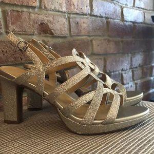 "Naturalizer ""Cameron"" silver glitter heels"
